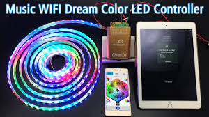 programmable led light strips music wifi dream color led controller control ws2811 digital