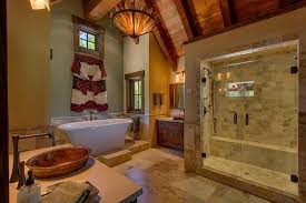 Rustic Master Bathroom Ideas - rustic master bathroom with exposed beam u0026 vessel sink zillow
