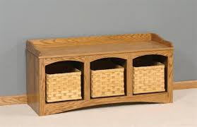 Entryway Table With Baskets Top Entryway Table With Baskets With Amish Mission Bench With