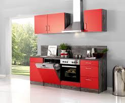 Kueche Mit Elektrogeraeten Guenstig Küchenzeile Sevilla Küche Mit E Geräten Breite 220 Cm Rot