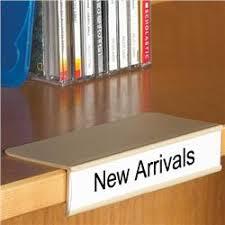Bookcase Clips Clip On Shelf Label Holder