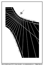 layout of villa park spectra sundial in villa park california usa