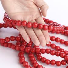 scarlet bead garland garlands and