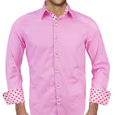 mens pink valentines day dress shirts