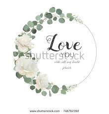wedding flowers quote form wreath stock images royalty free images vectors