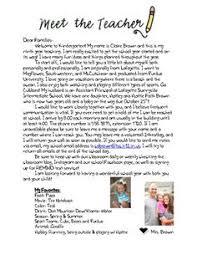 teacher letter teacher letters meet the teacher and teaching