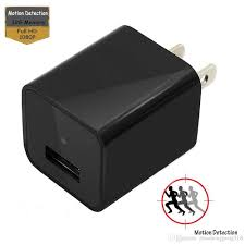 full hd 1080p spy hidden cameras charger adapter motion detection