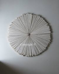 white rustic wood wall abstract wedding painting wood circle
