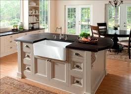 sink island kitchen country kitchen decoration with farm style kitchen island