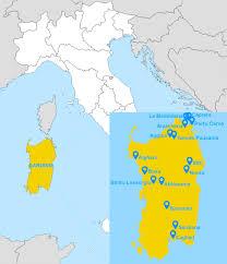 Sardinia Map Culinary Tour Of Sardinia Hello Italy