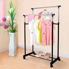 standing clothes rack alera wire shelving garment rack coat rack adjustable portable clothes coat hanging rail stand on wheel double garment rack home room storage movable clothes drying rack clothes rack