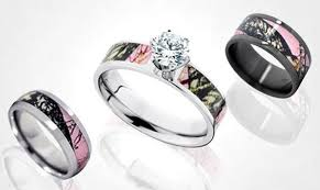 camo wedding band sets pink camo wedding rings pinkous