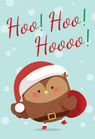 christmas cards free santa owl free printable christmas card greetings island
