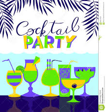 cocktail party holiday invitation background for night club or