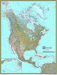 North America Maps by North America Physical Atlas Wall Map Maps Com