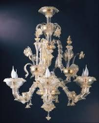 Gold Glass Chandelier Rezzonico Murano Glass Chandeliers Muranodirect Venice