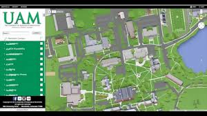 Uark Campus Map Uam Online Map Youtube