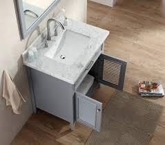 ace 31 inch cottage single sink bathroom vanity set in grey finish