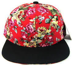 floral snapback blank retro floral snapback hats wholesale flower crown