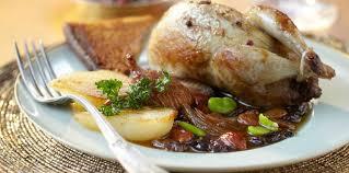 caille cuisine caille aux saveurs d automne facile recette sur cuisine actuelle