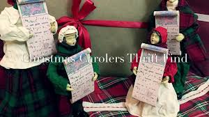 christmas carolers thrift find youtube