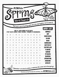 word search spring printable printable paper