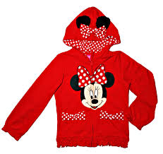 amazon com disney minnie mouse little girls zip up hoodie 2t