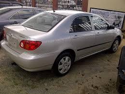price of a toyota corolla sparkling tokunbo 2004 toyota corolla price n1 6m autos nigeria