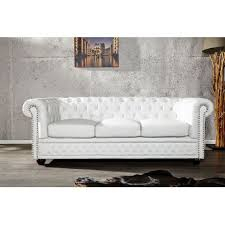 canapé chesterfield blanc canape chesterfield xl 3 places blanc