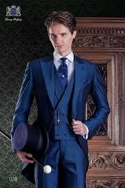 jaquette mariage italien costume de mariage bleu royal de mélangée mohair ongala