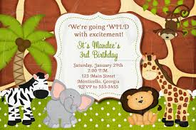 17 safari birthday invitations design templates free printable