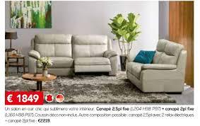 toff canapé meubles toff promotion un salon en cuir chic qui sublimera votre