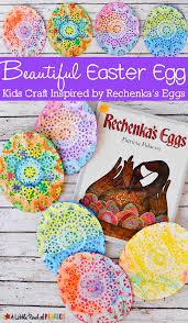 beautiful easter egg doily craft for kids inspired by rechenka u0027s
