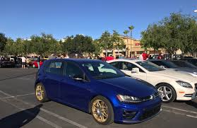 volkswagen gti night blue lapiz blue and golden rims golfgti