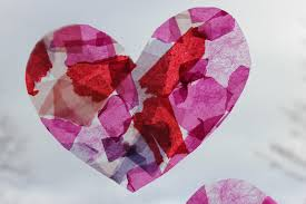 tissue paper stained glass hearts the imagination tree