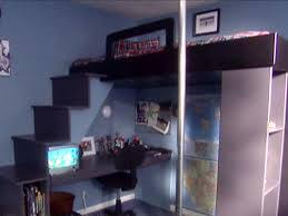 Diy Loft Bed With Desk How To Build A Loft Bed With A Desk Underneath Hgtv