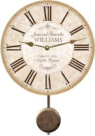 personalized clocks with pictures wedding clock personalized wedding clock