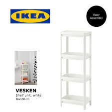 Bathroom Shelving Unit ikea vesken plastic bathroom shelf unit multipurpose storage unit
