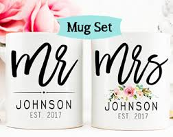 his and hers items mr and mrs mugs etsy