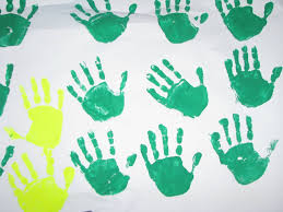 handprint christmas tree craft learning 4 kids