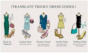 wedding dress code tipfultuesday wedding dress code