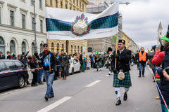 munich bavaria germany march 13 2016 people in traditional
