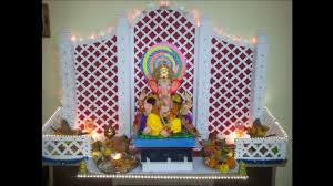 Home Temple Decoration Ideas Ganpati Decoration Idea For Home Youtube