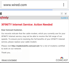 xfinity online light not on comcast doesn t like you using third party cable modems