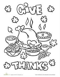 coloring pages thanksgiving dinner coloring