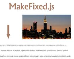 jquery design elements makefixed js jquery plugin to create sticky elements on scroll