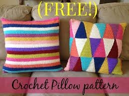 Knitted Cushions Free Patterns Free Crochet Striped Pillow Pattern Only Follow Link To Triangle
