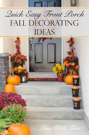 quick easy front porch fall decorating ideas