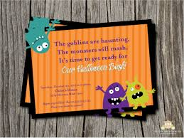 skeleton halloween invitation card for costume night party cute