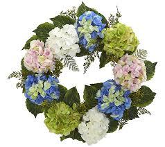 hydrangea wreath 24 hydrangea wreath by nearly qvc